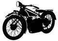 Vintage motor bike two Royalty Free Stock Photo