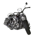 Vintage motorbike angle shot of a in white back Stock Photography