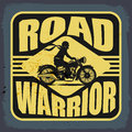 Vintage motorbike label abstract illustration Royalty Free Stock Photography