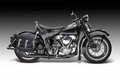 Vintage motorbike sideways shot of a in gradient back Royalty Free Stock Photography