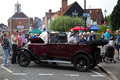 Vintage motorcar amersham uk september a is parked on the high street as a static display for the public to view as part of the Stock Photos