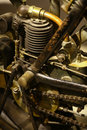 Vintage motorcycle engine Royalty Free Stock Photo