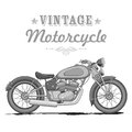 Vintage motorcycle illustration of on white background Royalty Free Stock Photos