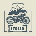 Vintage motorcycle label abstract illustration Royalty Free Stock Photo