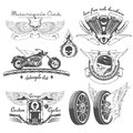 Vintage motorcycle labels