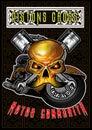 The Vintage Motorcycle skull