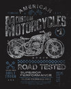 Vintage Motorcycle T-shirt Gra...