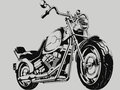Vintage Motorcycle Vector Silhouette Royalty Free Stock Photo