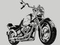 Vintage Motorcycle Vector Silhouette