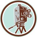 Vintage Movie Film Camera Retro Stock Photography