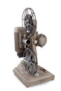 Vintage movie projector on a white background Royalty Free Stock Image