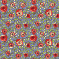Vintage multicolor roses seamless pattern Stock Photo