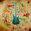 Vintage music background Royalty Free Stock Image
