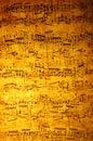 Starodávny hudba list
