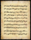 Vintage Music sheet Stock Photography