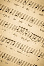 Vintage music sheet Royalty Free Stock Photos