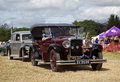 Vintage nash motorcar potten end uk july a exits the show arena having just given a public display at the dacorum steam fair on Stock Photography