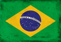 Vintage national flag of Brazil background Royalty Free Stock Photo