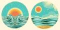 Vintage Nature Seascape Symbol
