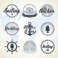 Vintage nautical labels Royalty Free Stock Image