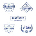 Vintage Nautical and Ocean Label Badge, Retro design element in white background