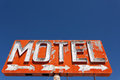 Vintage, neon motel sign Royalty Free Stock Images