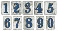 Vintage New Orleans Street Tiles Numbers Royalty Free Stock Photo