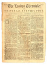 Vintage Newspaper of 1759 Stock Photo