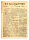 Starodávny noviny z 1759