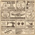 Vintage newspaper banners and advertising labels vector set
