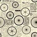 Vintage newspaper pattern Royalty Free Stock Photo