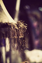 Vintage night lamp close up of photo effect with soft grain Royalty Free Stock Images