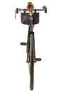 Vintage nineteenth century bicycle isolated on white Royalty Free Stock Image