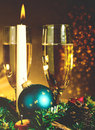 Vintage noel abstract christmas backgrounds with candle and champagne for your design Royalty Free Stock Photo