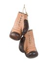 Vintage old boxing gloves Royalty Free Stock Photo