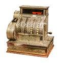 Vintage old cash register Royalty Free Stock Photo