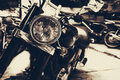 Vintage old classic motorcycles Royalty Free Stock Photo