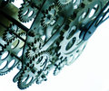 Vintage Old Clock Gears Royalty Free Stock Photo