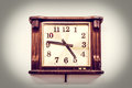 Vintage old clock on the wall with filter effect Royalty Free Stock Image