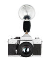 Vintage old film photo camera isolated Stock Photos