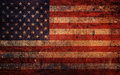 Vintage Old Grunge American Flag Royalty Free Stock Photo