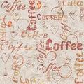 Vintage old paper coffee background