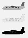 Vintage Old Passenger turboprop Airplane