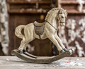 Vintage old rocking horse Royalty Free Stock Photo