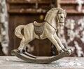Vintage old rocking horse Royalty Free Stock Photo