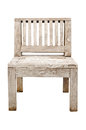 Vintage Old wooden chair isolated on white background Royalty Free Stock Photo