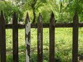 Vintage old wooden fence background