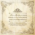 Vintage orate frame ornate for invitations or announcements vector illustration Stock Photo