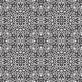 Vintage ornament black and white seamless pattern Stock Photo