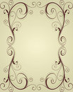 Vintage ornamental frame Stock Photography